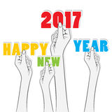 Creative New Year Greeting for 2017 Royalty Free Stock Image