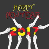 Creative New Year Greeting for 2017 Royalty Free Stock Photos