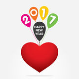 Creative New Year Greeting for 2017 Stock Photography