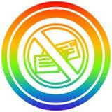 A creative no mail circular in rainbow spectrum vector illustration