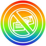 A creative no mail circular in rainbow spectrum vector illustration