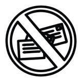 A creative no mail icon stock illustration