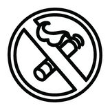 A creative no smoking icon. An original creative no smoking icon vector illustration