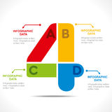 Creative number '4' info-graphics Stock Image