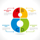 Creative number '8' info-graphics design Royalty Free Stock Images