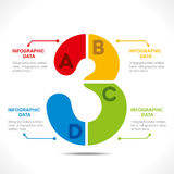 Creative number info-graphics Stock Photography