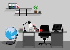 Creative office desktop workspace. Vector mock up Royalty Free Stock Photos