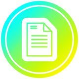 A creative official document circular in cold gradient spectrum. An original creative official document circular in cold gradient spectrum vector illustration