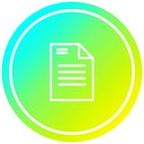 A creative official document circular in cold gradient spectrum. An original creative official document circular in cold gradient spectrum royalty free illustration