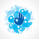 Creative Ok symbol Stock Image