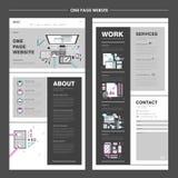 Creative one page website design Stock Photos