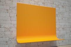 Creative orange bench side Royalty Free Stock Photos
