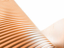 Creative Orange wave forms and technology communication Stock Image