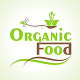Creative organic food design word Royalty Free Stock Photography