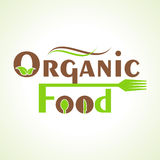 Creative organic food design word concept Stock Photography