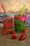 Creative organic smoothie for kids Stock Photos