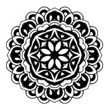 Creative ornament design. Black and white mandala. Hand drawn element. Anti-stress coloring page for adults. In architecture and decorative art, ornament is a Stock Images