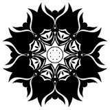 Creative ornament design. Black and white mandala. Hand drawn element. Anti-stress coloring page for adults. In architecture and decorative art, ornament is a Stock Photography