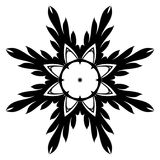 Creative ornament design. Black and white mandala. Hand drawn element. Anti-stress coloring page for adults Royalty Free Stock Photography