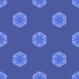 Creative Ornamental Seamless Blue Pattern Stock Image