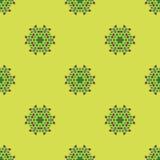 Creative Ornamental Seamless Green Pattern Stock Image