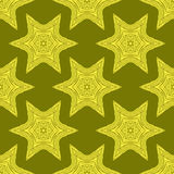 Creative Ornamental Seamless Yellow Pattern Royalty Free Stock Images
