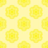 Creative Ornamental Seamless Yellow Pattern Royalty Free Stock Photo