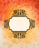Creative ornamented banner Royalty Free Stock Image