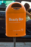 Creative outdoor garbage containers royalty free stock photo