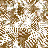 Creative overlapping continuous lines pattern, neutral motif abs Stock Photos