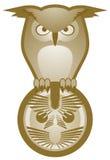 Creative owl emblem Stock Photography
