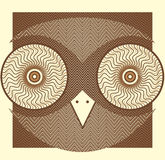 Creative owl picture Stock Images