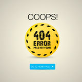 Creative page not found, 404 error Royalty Free Stock Photo