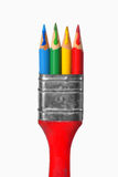 Creative paintbrush concept Stock Photo