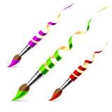 Creative paintbrushes Royalty Free Stock Image