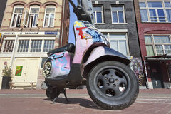 Creative painted scooter in Amnsterdam. Stock Images