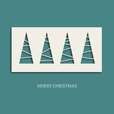 Creative paper Christmas tree. Eps10 vector Illustration Royalty Free Stock Photography