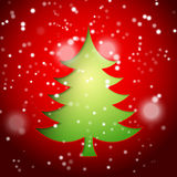 Creative paper Christmas tree Royalty Free Stock Images