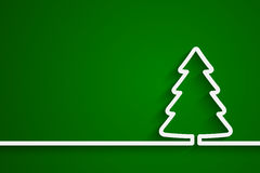 Creative paper Christmas tree. Vector Illustration for your design Stock Illustration