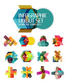 Creative paper geometric business infographic background templates. For workflow layout, diagram, number options or web design Stock Photo