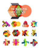 Creative paper geometric business infographic background templates. For workflow layout, diagram, number options or web design Royalty Free Stock Photos