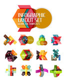 Creative paper geometric business infographic background templates. For workflow layout, diagram, number options or web design Stock Photos