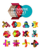Creative paper geometric business infographic background templates. For workflow layout, diagram, number options or web design Royalty Free Stock Images