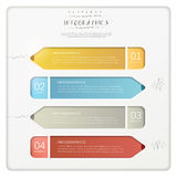 Creative paper pencil bar chart infographic elements Stock Photos