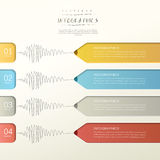Creative paper pencil bar chart infographic elements Stock Photo