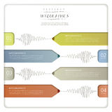 Creative paper pencil bar chart infographic elements Stock Photography
