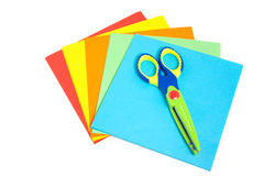 Creative paper and a scissor Royalty Free Stock Photo