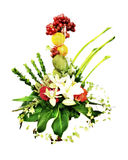 Creative parcel flower Stock Photo