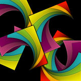 Creative Party Background. A creative party background with multicolored curls on black Stock Photography