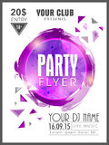 Creative Party flyer, template or banner. Stock Image
